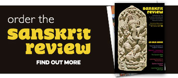 Order the Sanskrit Review. Find out more.